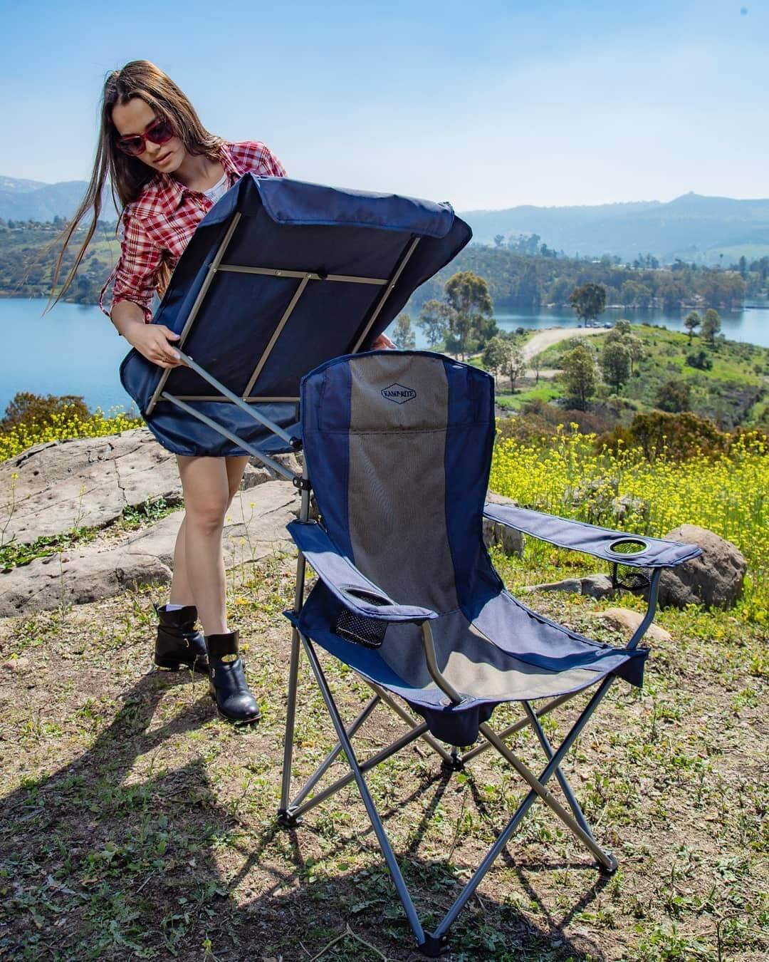 chaise-de-camping-avec-porte-tasses