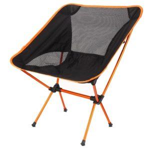 chaise-de-camping-couleur-noir-et-orange